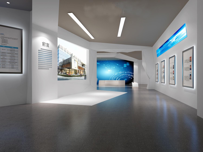 【東舍设计】展厅设计展馆设计效果图设计室内设计装修设计效果图