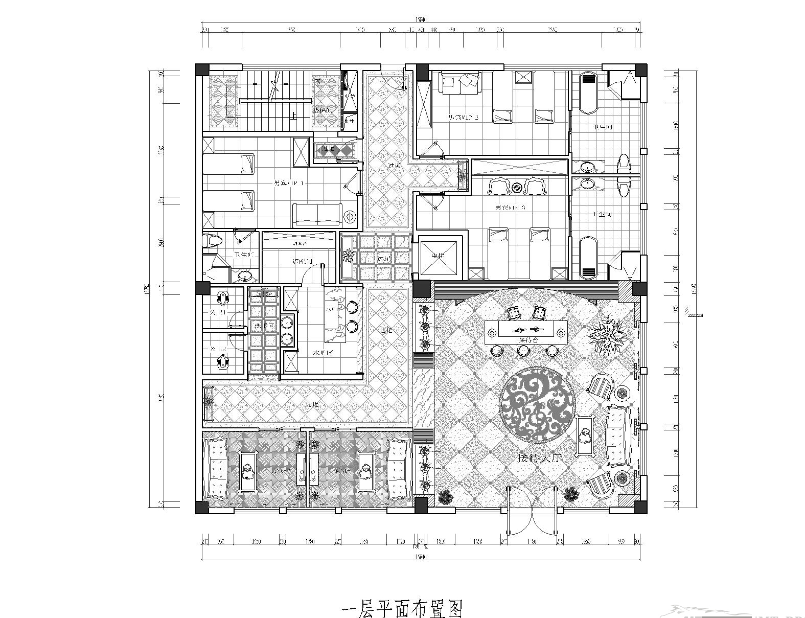 平面布置图 餐饮空间设计 办公空间设计 北京地区提供现场测量