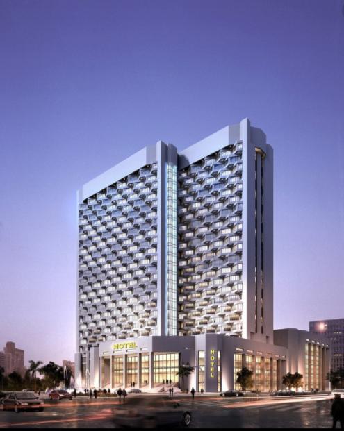 现代办公写字楼金融中心银行行政大厅效果鸟瞰平面施工图图纸