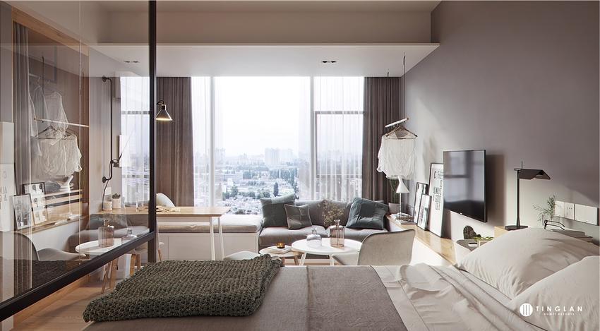 【东舍设计】公寓设计单身公寓室内设计装修设计公寓设计新房装修