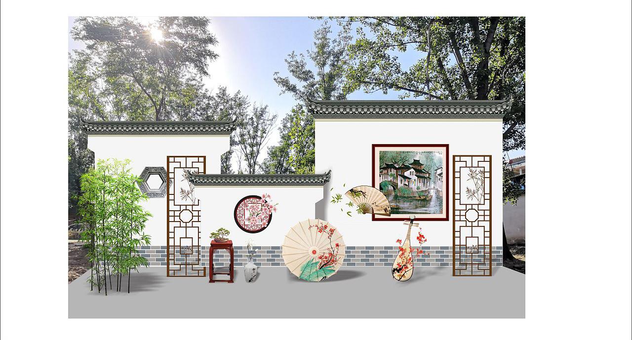 【形象墙设计】形象墙背景墙前台文化墙店招设计软装美陈设计