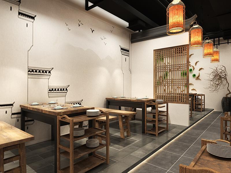 餐饮设计火锅店装修 包间设计餐厅效果图设计 快餐设计室内设计