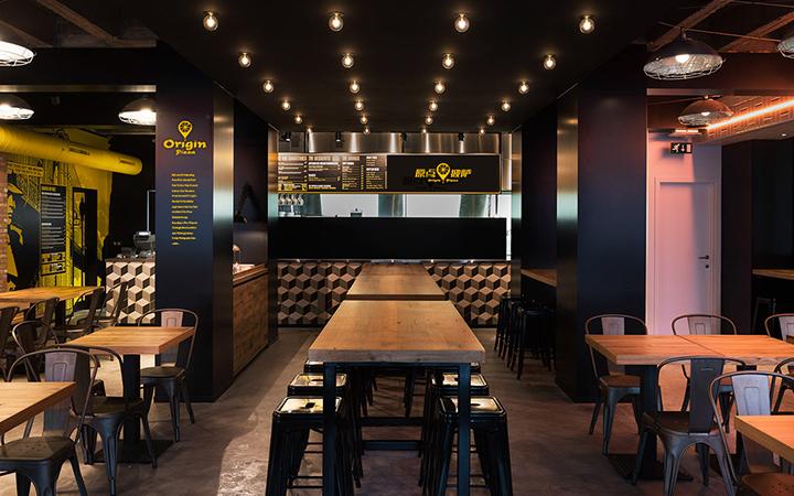 餐饮购物空间室内工装修门头装饰展厅设计cad办公装制图效果图