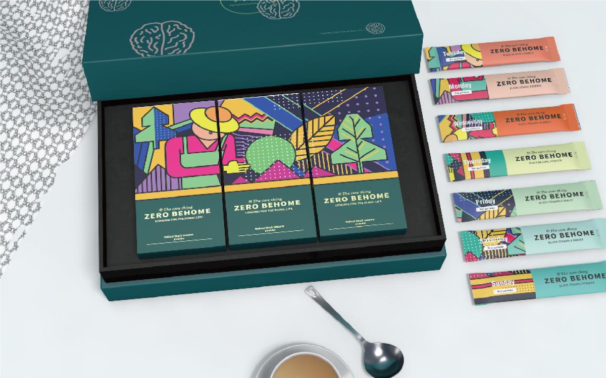 礼盒设计商务运输包装盒设计卡通简约科技中国风田园包装设计