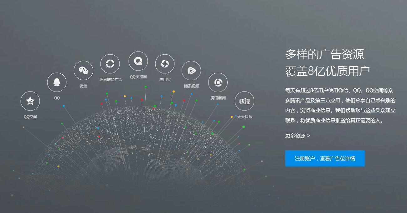 腾讯广告投放DSP开户广点通QQ微信朋友圈天天快报视频营销