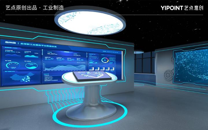 虚拟展厅多媒体动画互动触摸屏大屏互动3D全息投影数字沙盘设计
