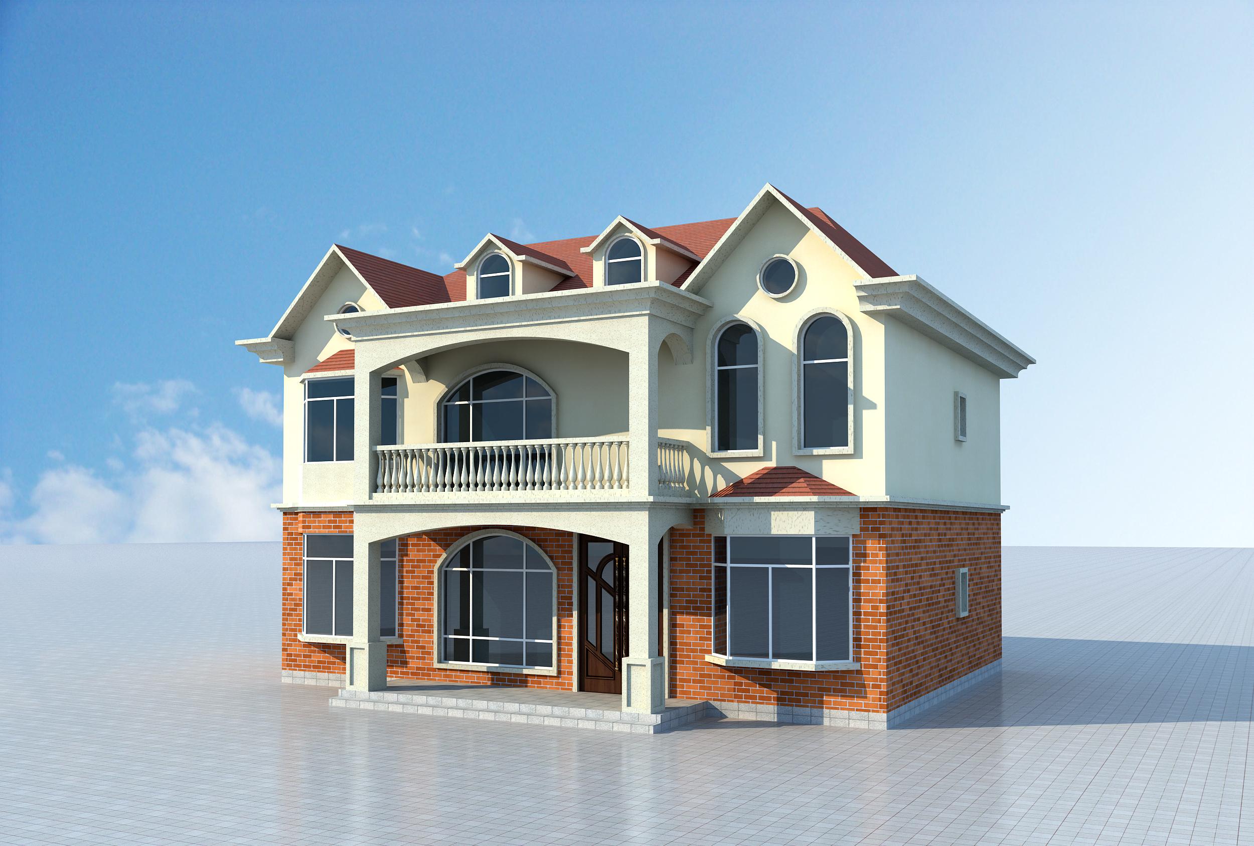 普通农村自建房别墅全套CAD施工图纸效果图平面布局建筑设计