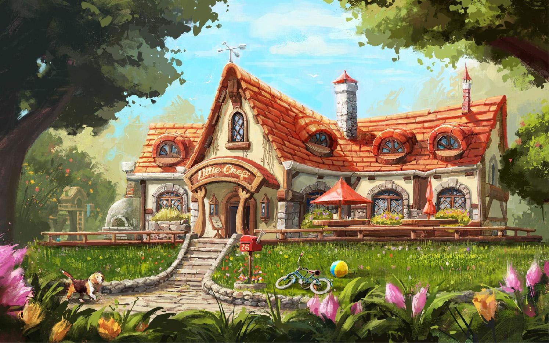 插画动漫人物卡通游戏CG商业外包手绘场景绘本游戏设计定制