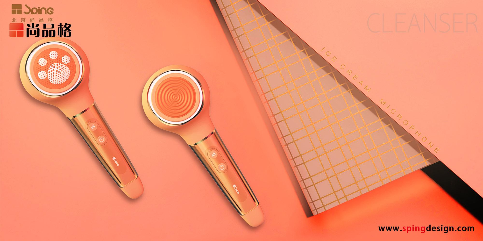 个人护理产品结构设计美容仪外观外开设计洁面仪导入导出工业仪器