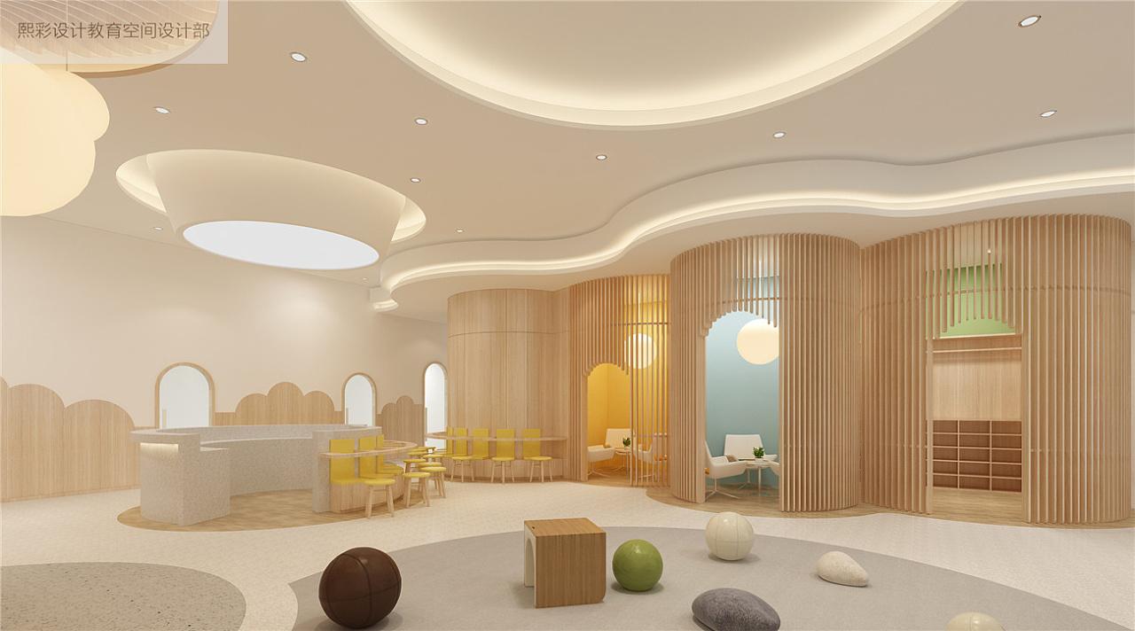 公装设计培训教育机构设计幼儿园学校早教中心设计效果图施工图