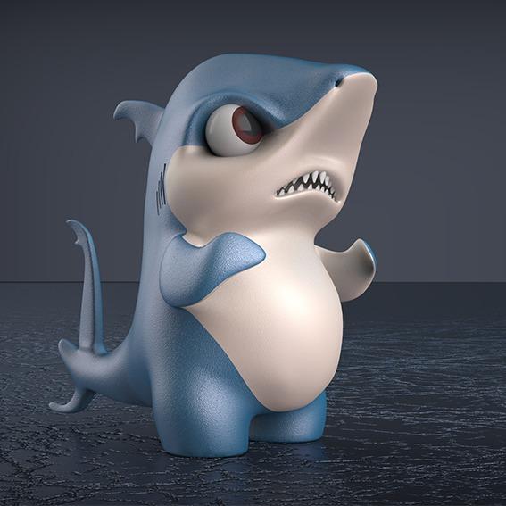 吉祥物3D建模ip形象建模渲染效果图外观设计产品设计工业设计