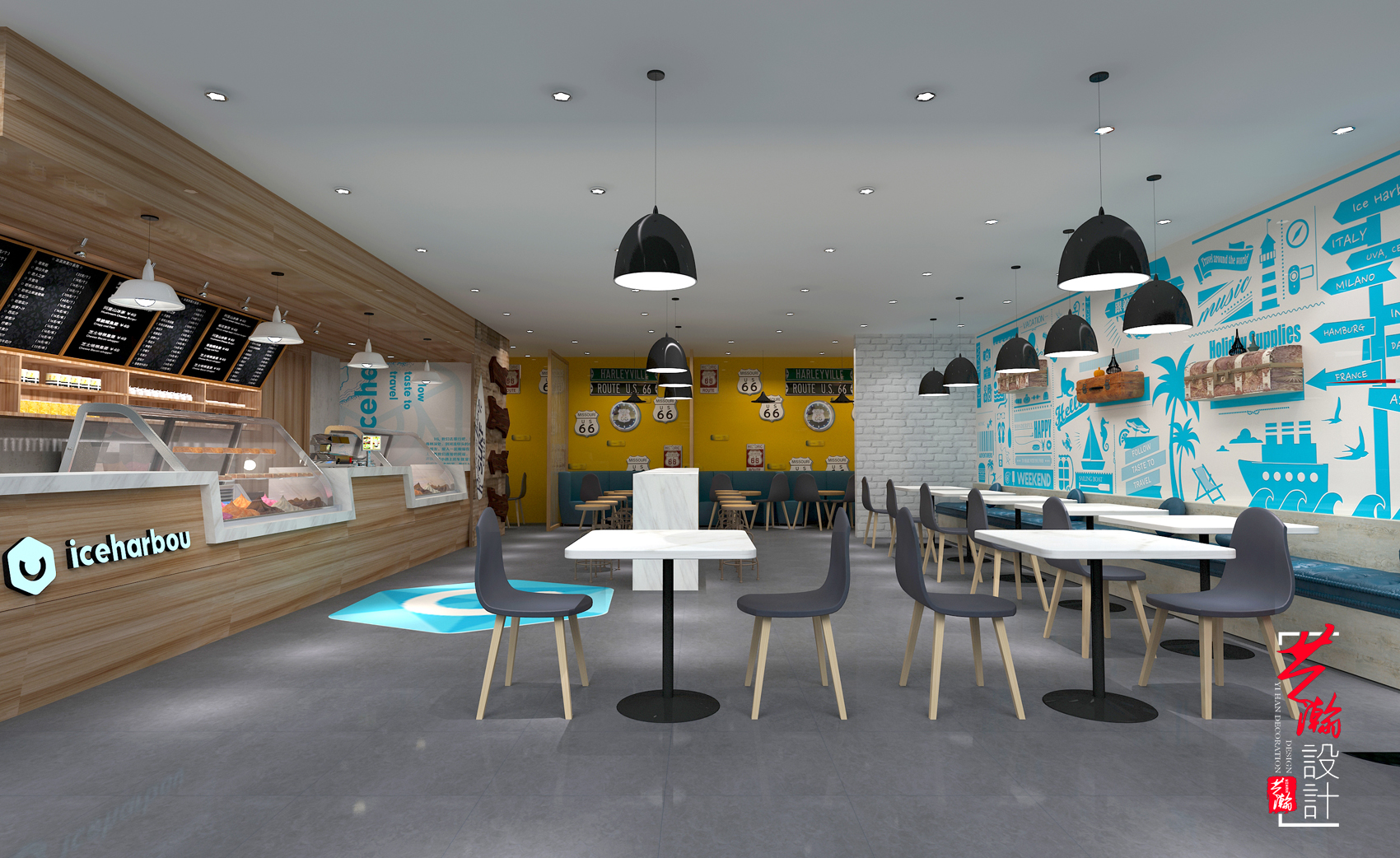 店面设计商业空间装修设计效果图购物空间设计服装店餐饮店面包店