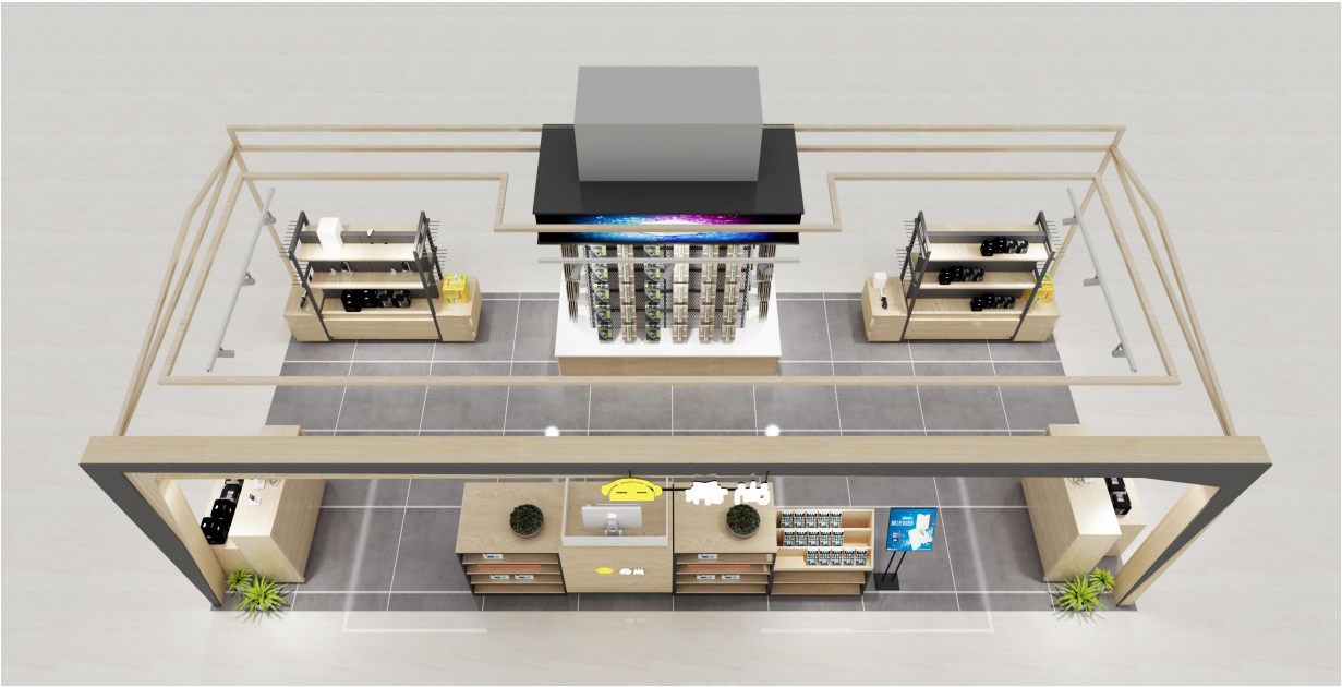 奶茶店咖啡厅设计室内装修设计效果图制作烘焙店蛋糕房效果图渲染