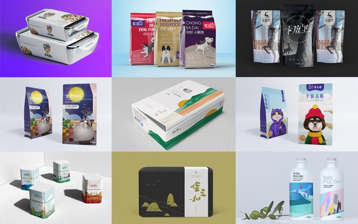 包装设计纸箱杯子国际化创意内衬包装镂空卡通人物碗装手绘天地盖
