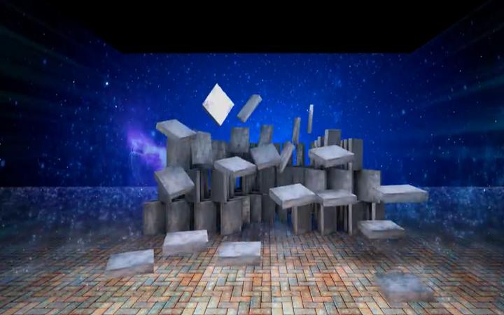 裸眼3D大屏/四折幕裸眼3D视频/沉浸式三维/VR全景