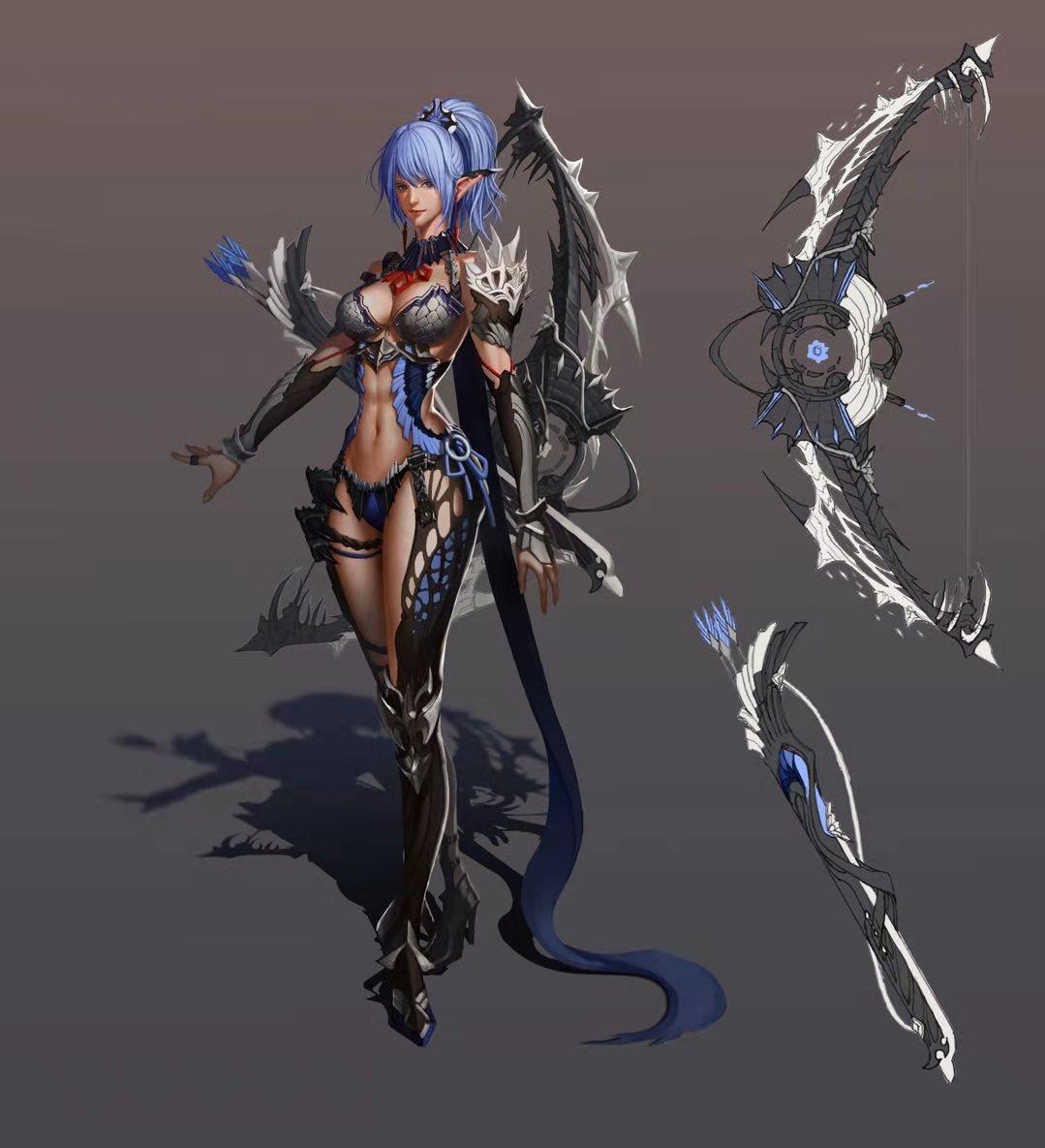 游戏场景人物原画UE4美术渲染图贴图3D建模Q版手绘设计