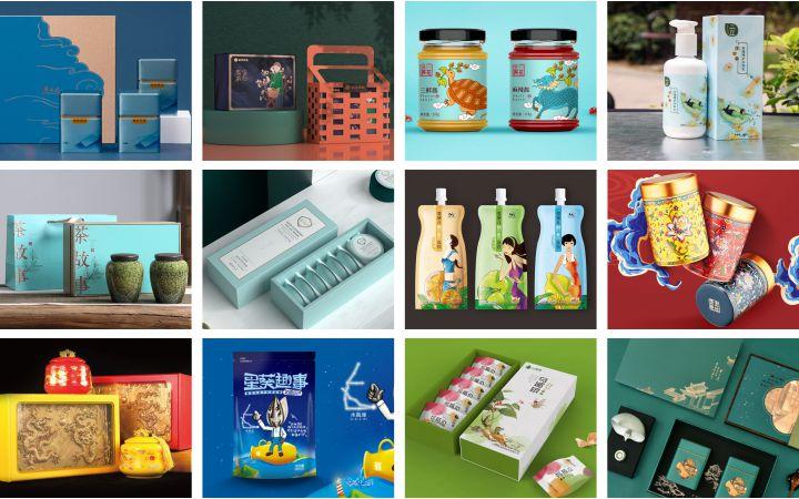 酒水包装茶包装化妆品包装农产品食品手提袋包装盒包装箱标签设计