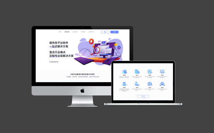 企业IT行业网站网页官网UI设计页面界面商城二次开发定制后台