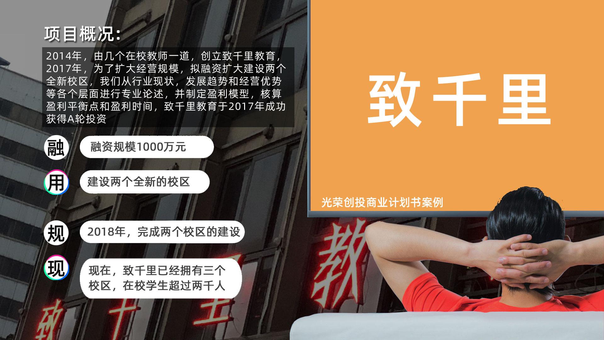 商业计划书融资PPT招商项目路演可行性研究报告代写作光荣文创