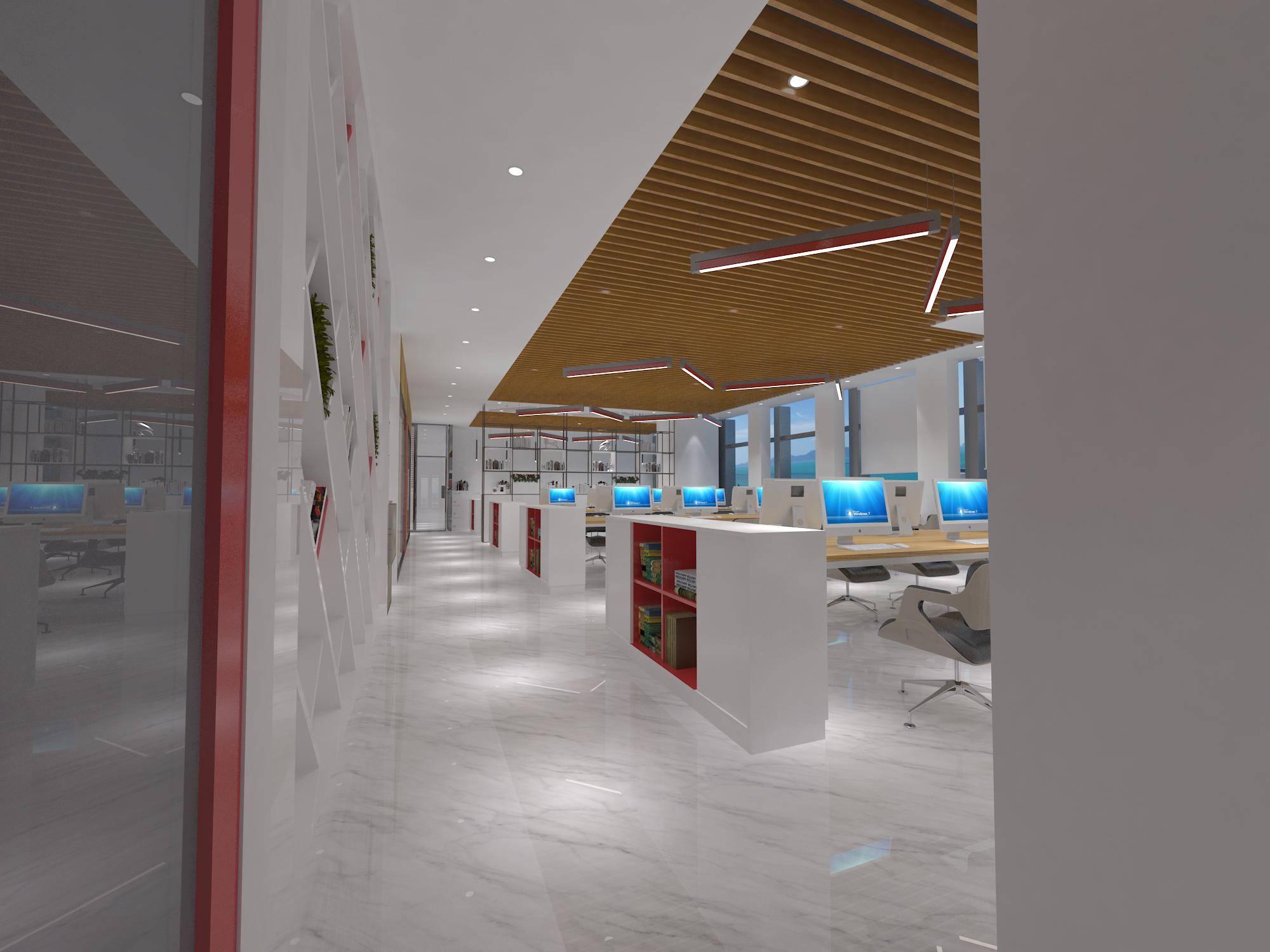 【港润】.办公室装修设计.办公室效果图.办公室内设计.工装.
