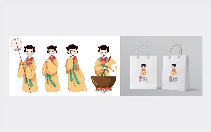 【有鱼品牌】卡通形象吉祥物手绘头像国潮插画表情包设计