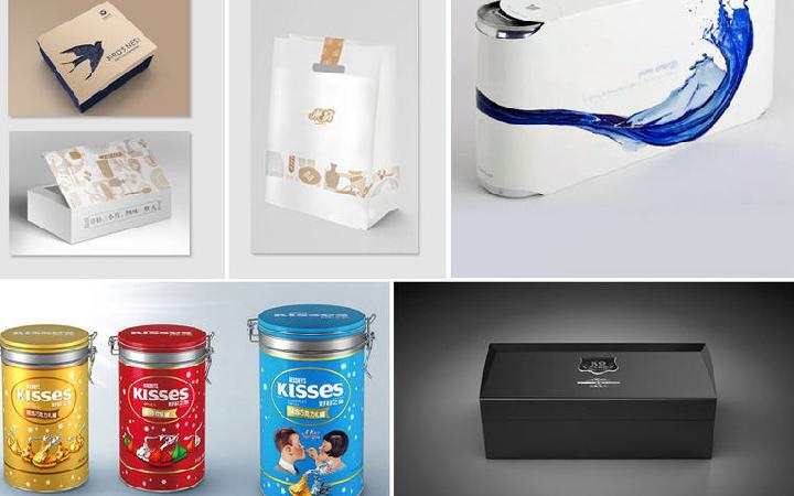 包装盒手提袋设计插画包装设计水果包装盒茶叶包装食品包装设计
