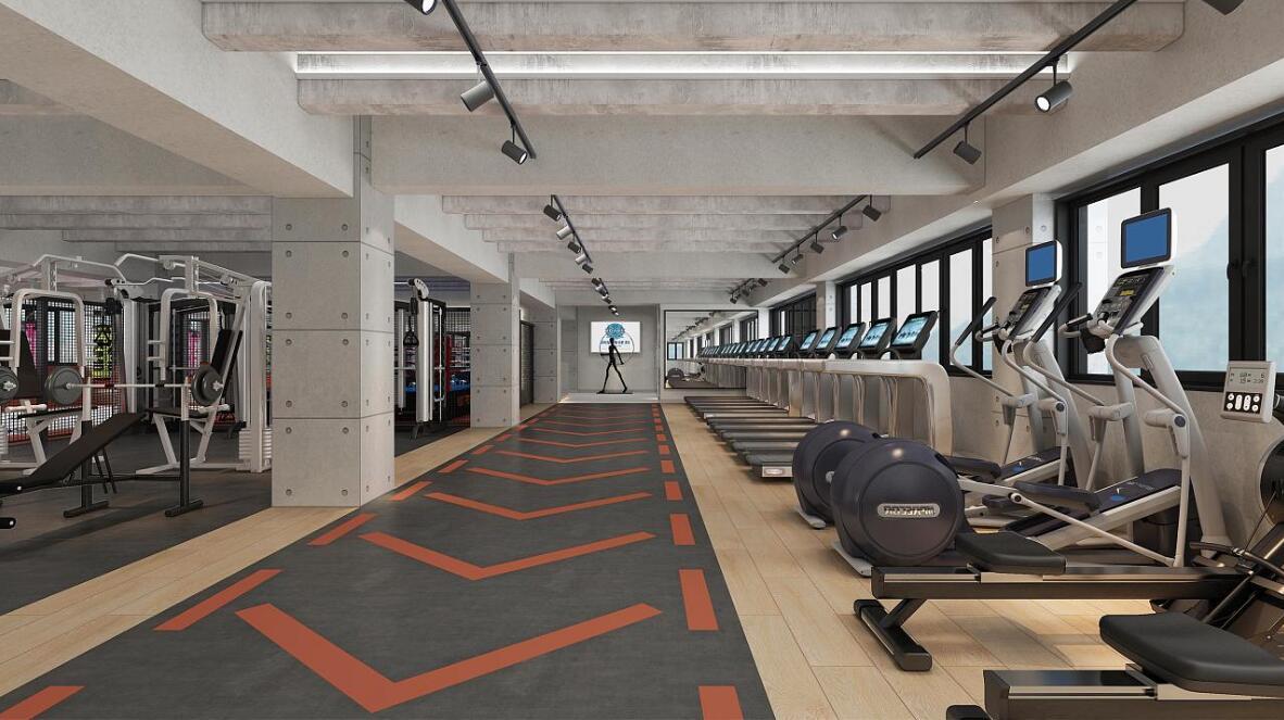 健身房设计效果图装修瑜伽馆室内设计美容院效果图设计装修效果图