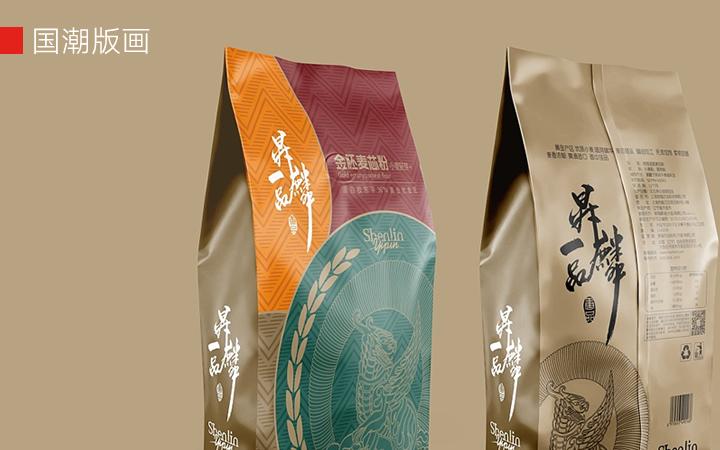 上海因心极简插画包装设计化妆品茶叶药品白酒红酒水大米电器礼盒