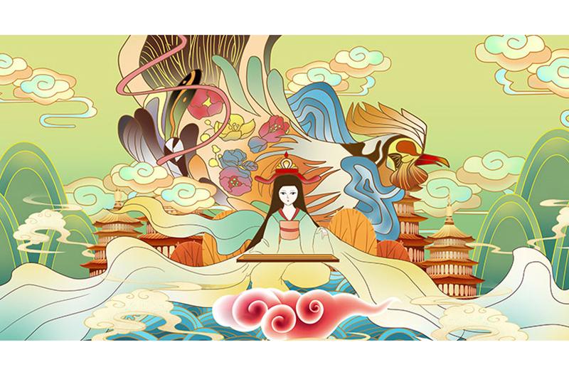 插画动漫画人物卡通游戏CG商业外包手绘场景绘本游戏设计定制
