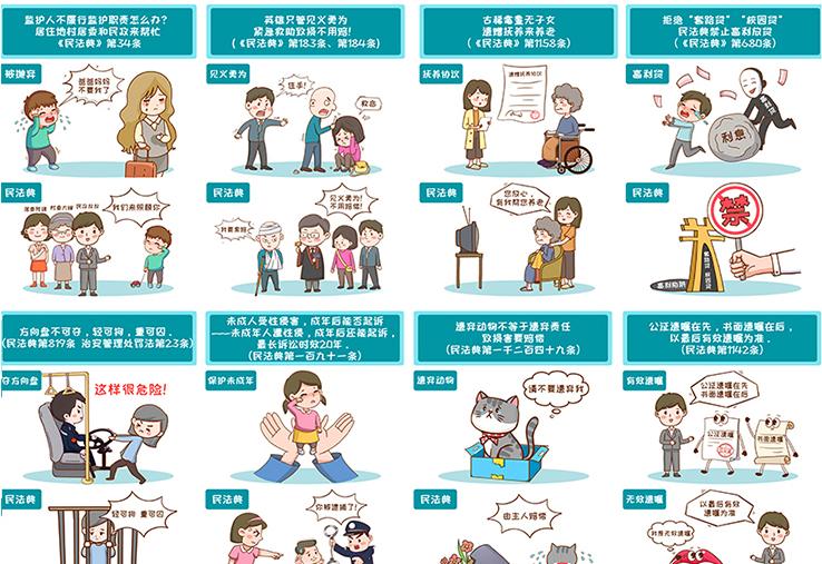 手绘四多格漫画商企业动漫H5长图绘本图书美术人物设计外包定制