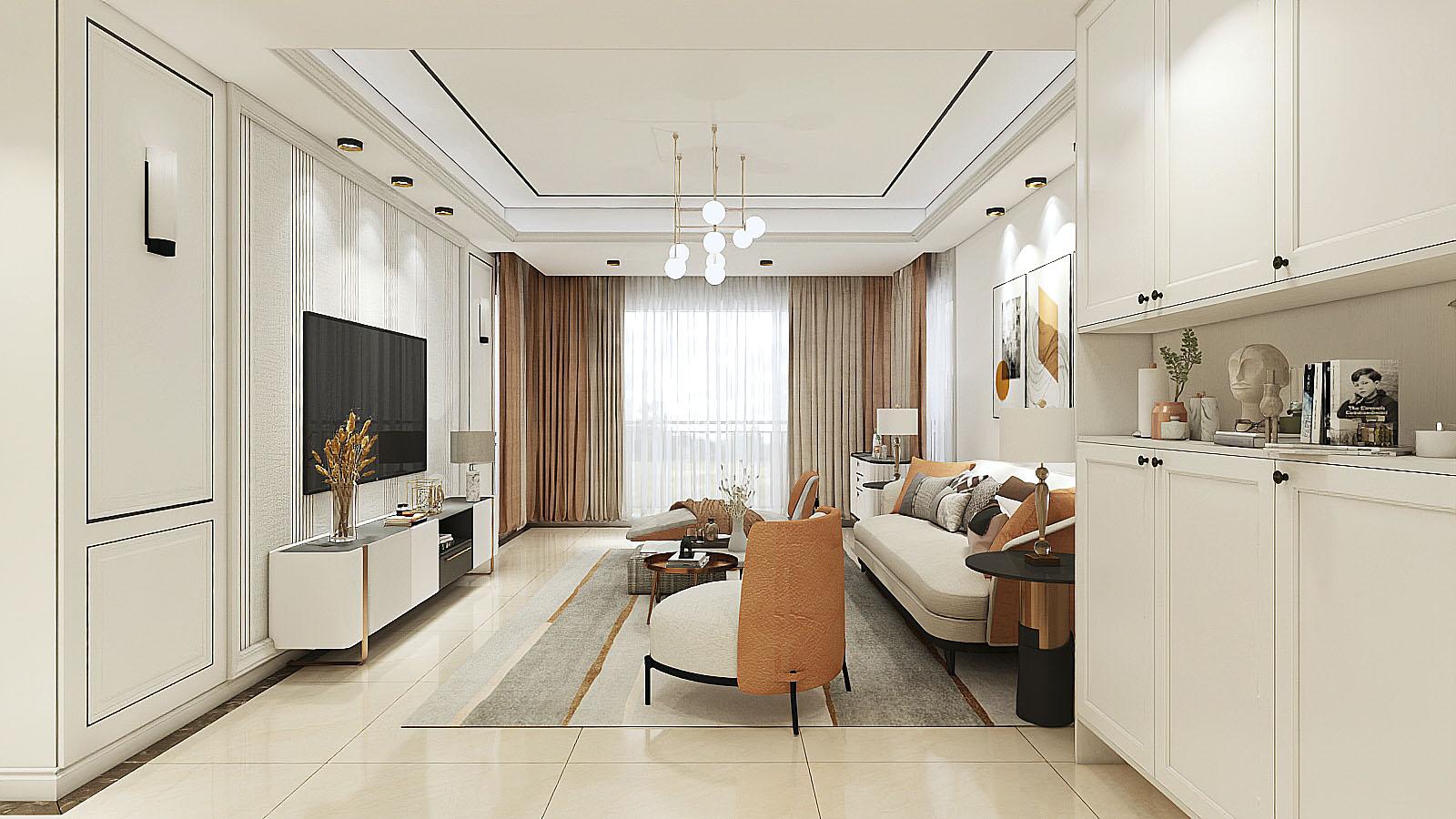 装饰工程家装室内设计公装设计自建房设计效果图设计方案施工图