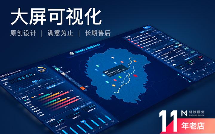 大屏可视化大数据软件UI页面设计界面智能智慧云平台科技感系统
