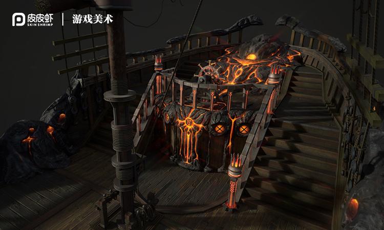 场景原画手绘CG概念图古风建筑3D建模PS厚涂原画设计制作