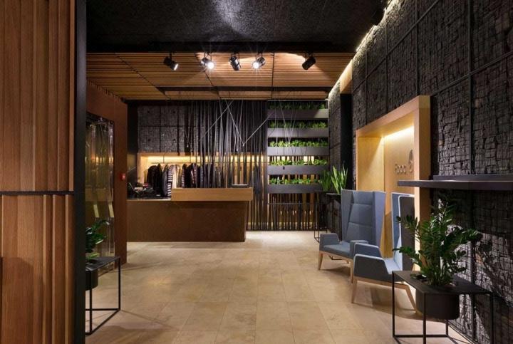 工业风格咖啡厅连锁店施工图si连锁店专业平面图店面设计