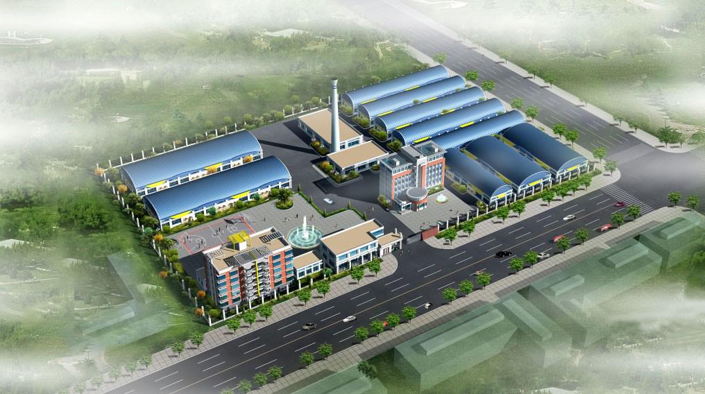 厂区鸟瞰图设计 鸟瞰效果图 商业建筑鸟瞰图 商场建筑鸟瞰图