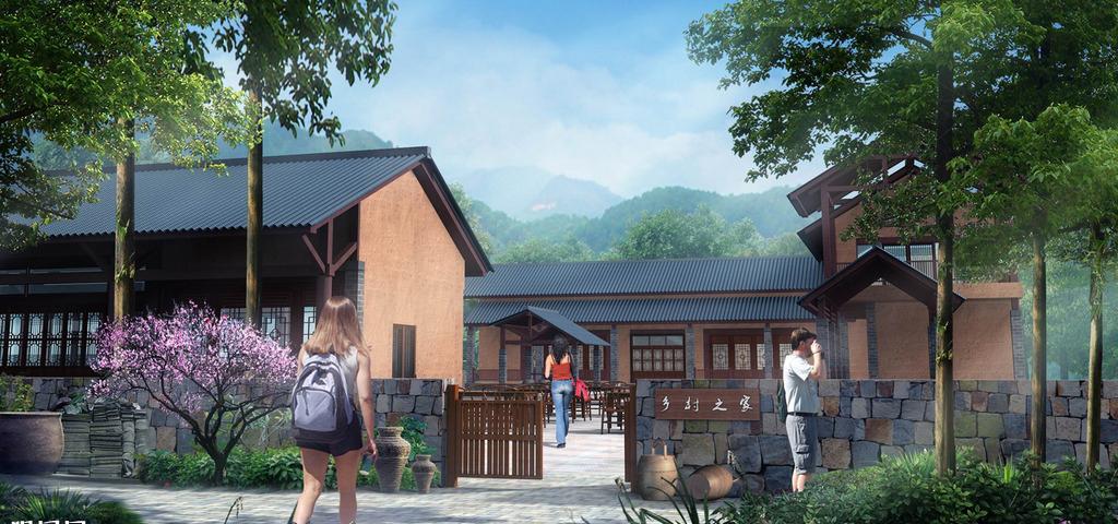【提供现场施工技术指导】民宿设计乡村民宿度假村传统民宿装修设