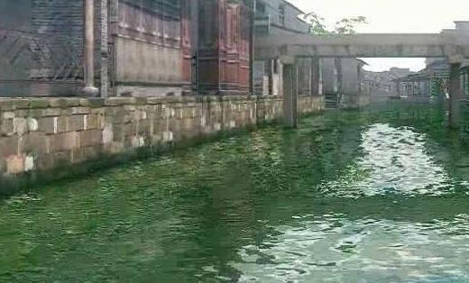 VR旅游-景区河流与古建