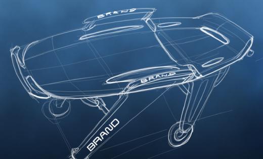 产品外观设计结构设计/急救医疗/医用折叠推车