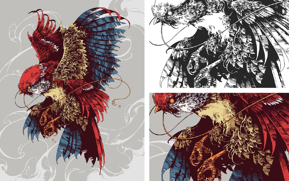 商业艺术插画手绘插画设计宣传展示装饰插画绘画代画AI素材矢量