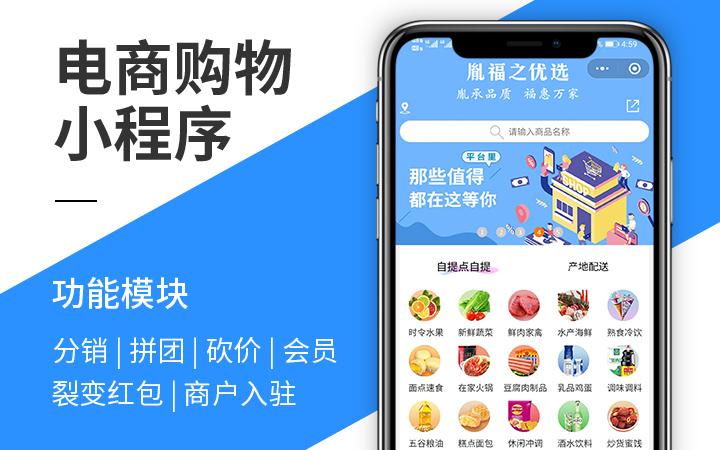 微信公众号开发电商生鲜超市拼团商城微信小程序建设计定制作