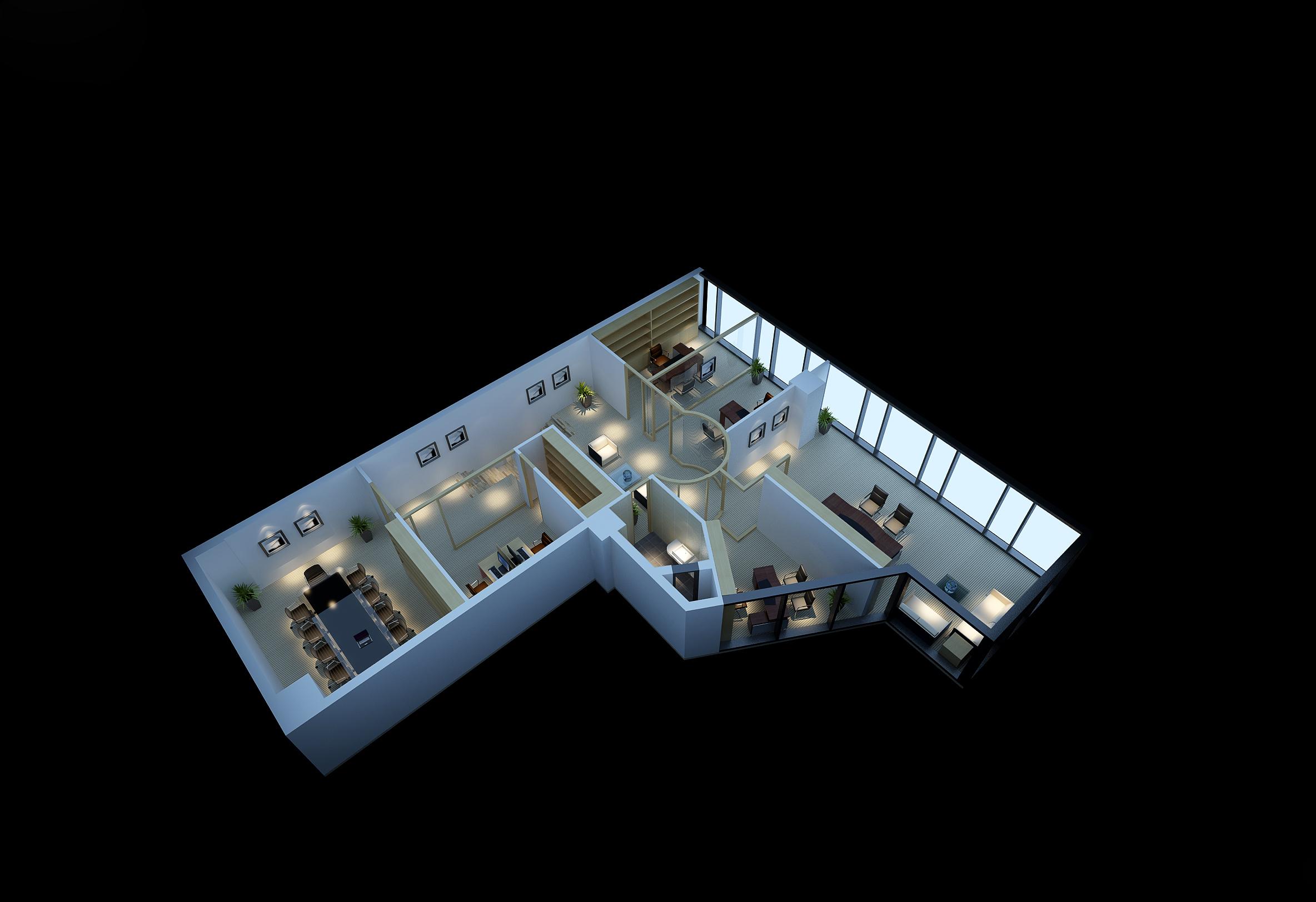 SU3D家具产品建筑室内景观道具摆场舞台戏台结构造型模型建模