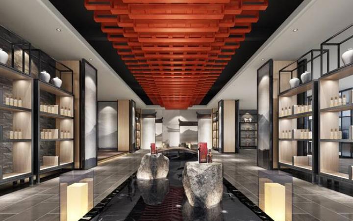 新房装修设计售楼部样板间别墅效果图家庭装修室内家装空间设计