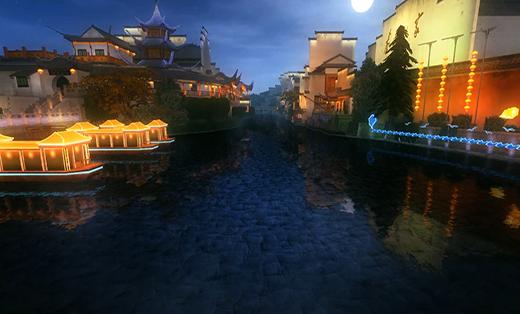 VR旅游-景区夜景