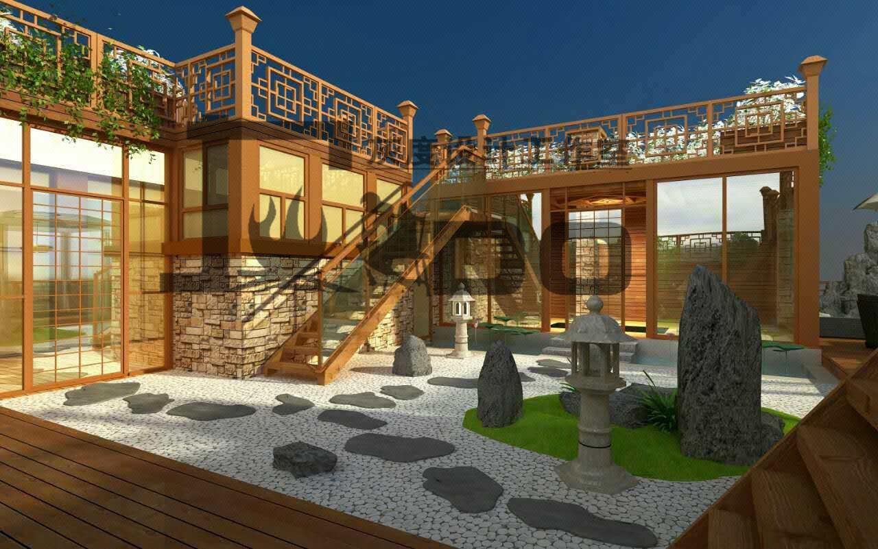 150-300欧式中式日韩现代屋顶花园设计/庭院设计/