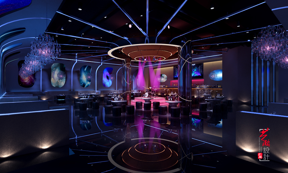 酒吧清吧酒店装修设计网红音乐餐厅音乐餐吧装修设计网吧网咖设计