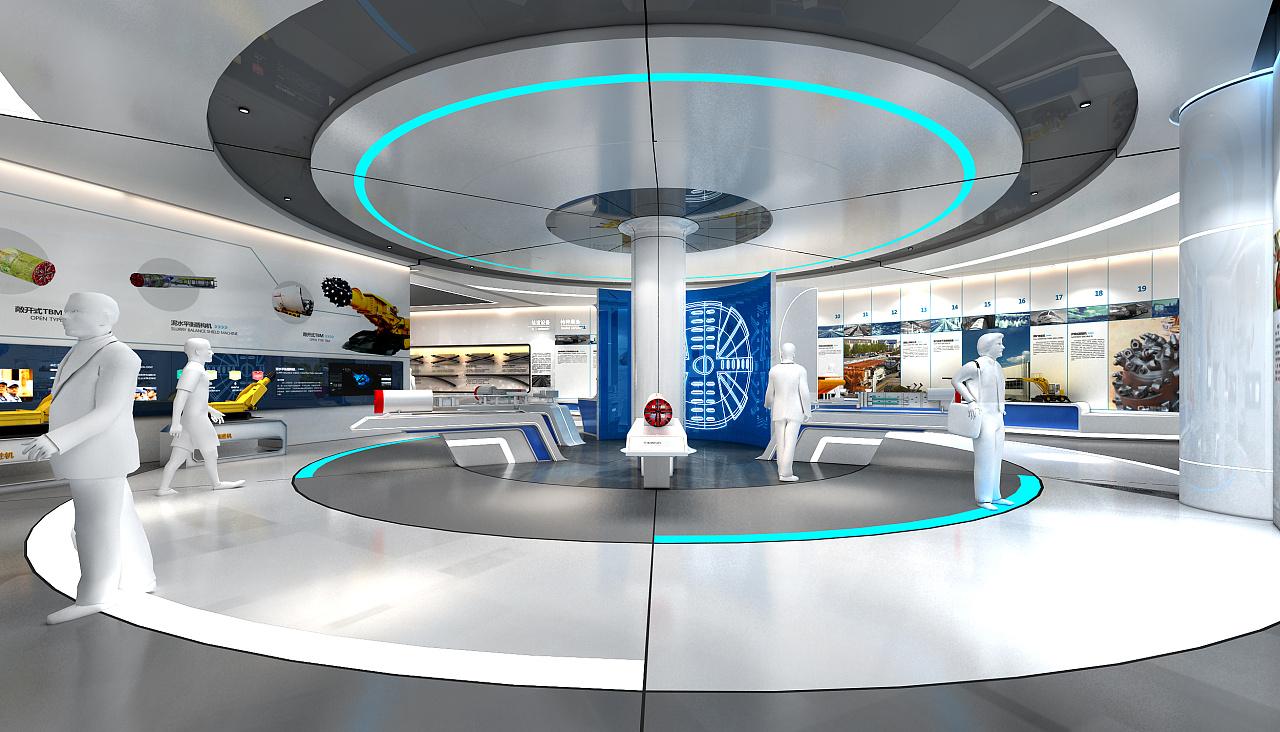 装修设计室内设计科技展厅党建展厅商业展厅家具展厅效果图设计