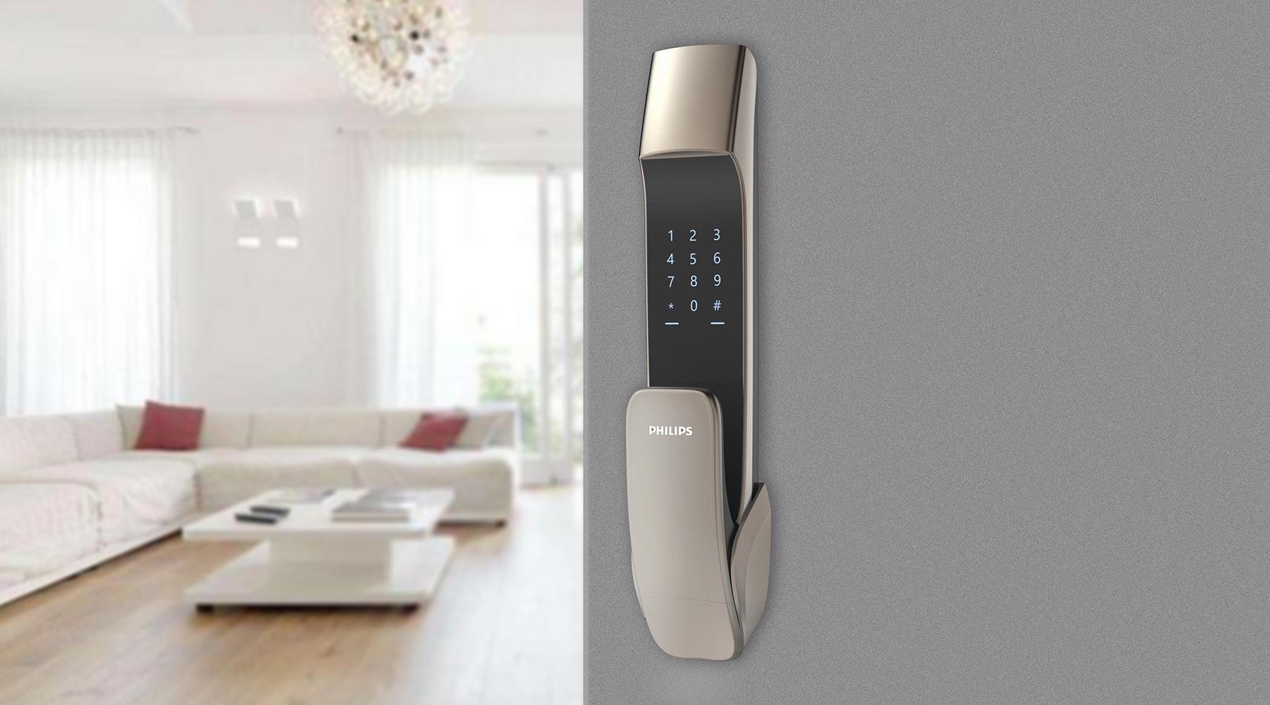 指纹锁智能锁电子锁密码锁全自动智能指纹锁产品外观设计工业设计