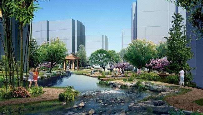 【景观效果图】庭院公路道路办公环境居住区商业景观3D效果图