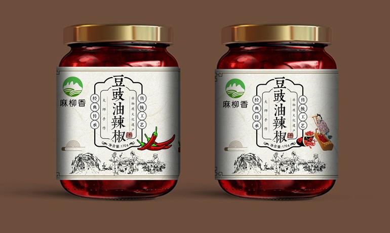 食品包装酒水包装瓶贴贴标标签包装设计瓶型包装礼品包装插画手绘