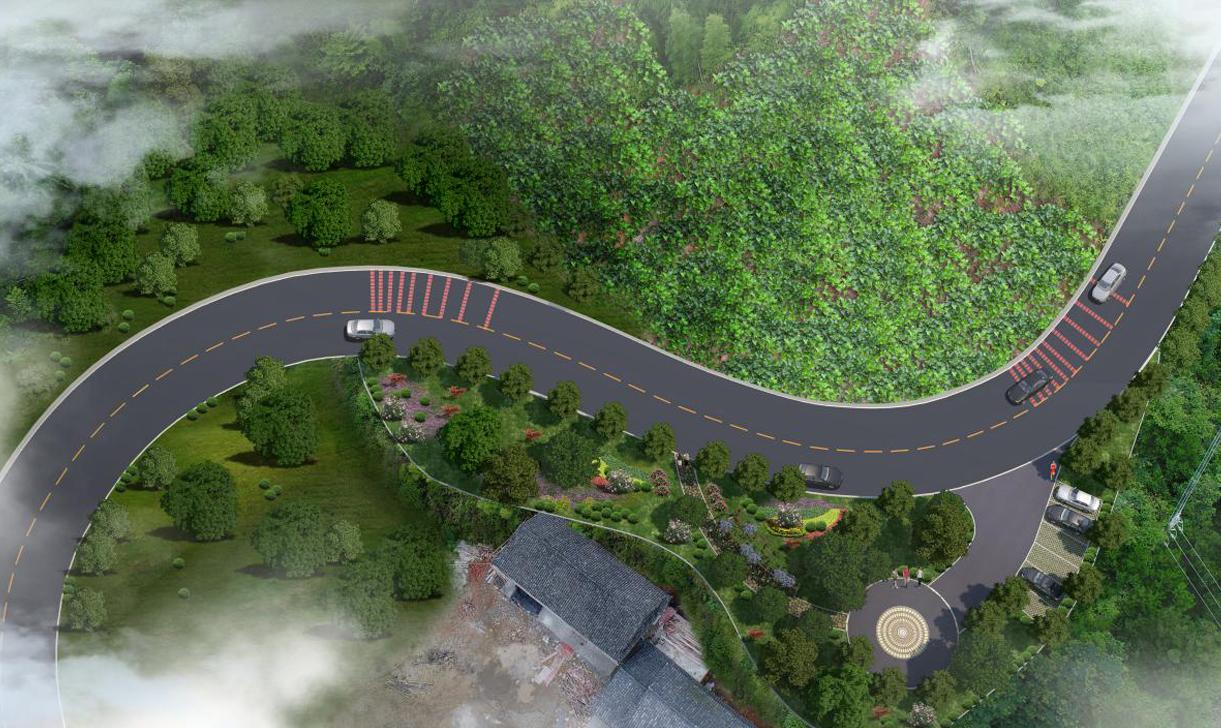 道路景观设计绿化施工图竣工图效果图规划设计园林专业公司亮化